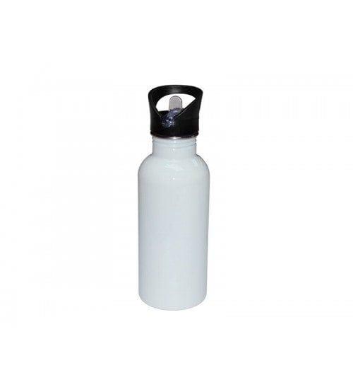 600ml Stainless Steel Bottle White-MUG-SS20W