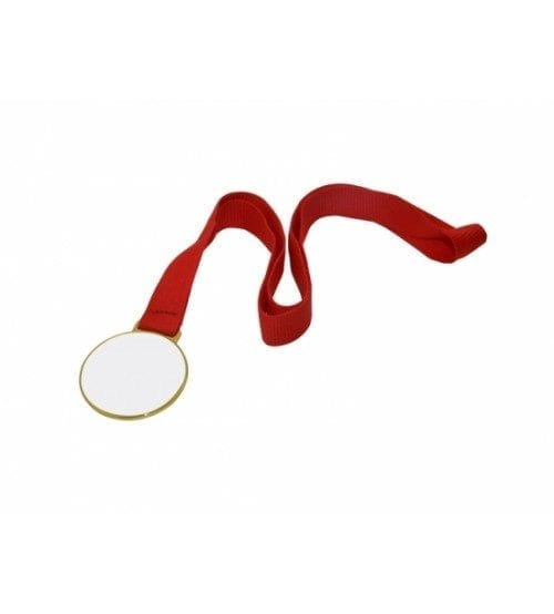 """2"""" Round Gold Medal With Ribbon(JP50G)"""
