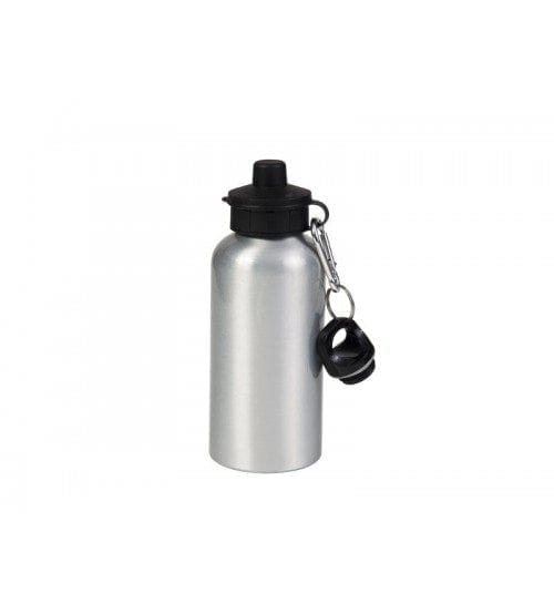 600ml Silver Aluminium Water Bottle With Two Caps (WB-AL600ST-1 )