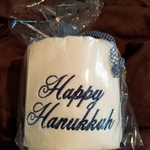 Happy Hanukkah – Embroidered Toilet Paper