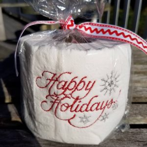 Happy Holidays – Embroidered Toilet Paper