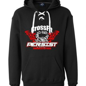 Crossfit Persist-Hockey Laced Adult Sweatshirts