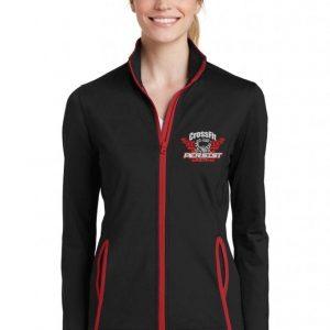 Crossfit Persist-Sport-Tek jacket black and red Ladies