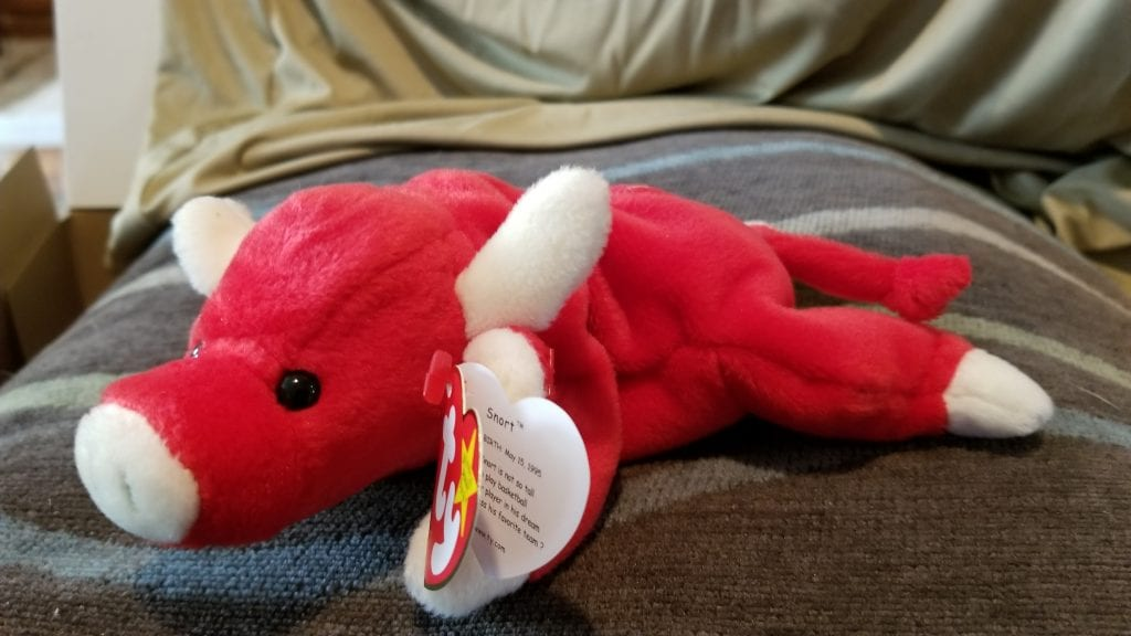 Ty Snort the bull Beanie Baby with PVC pellets  2d39709fcf1