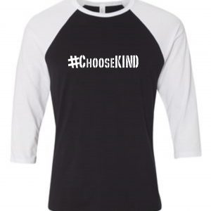 ChooseKIND Adult Raglan 3/4 baseball Tops