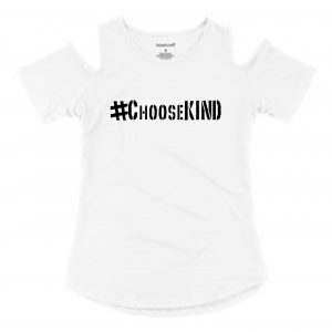 ChooseKIND Cold Shoulder Top  Youth Sizes
