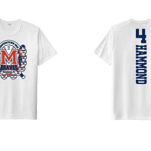 Manalapan Braves U12 Baseball – Cooperstown Pin Shirt