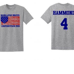Manalapan Braves U12 Baseball – Cooperstown Flag Shirt