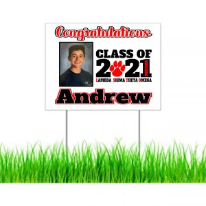 MEMS 8th Grade Lawn Sign with photo